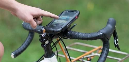 Gesloten fietshouders voor smartphones