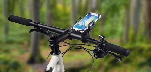Open fietshouders voor smartphones