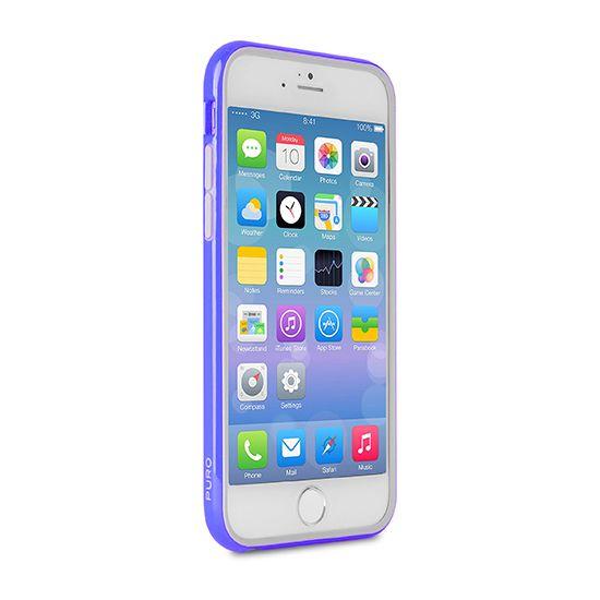 Puro Bumper Hard Kunststof Bumper voor de iPhone 6(s) Plus - Blauw