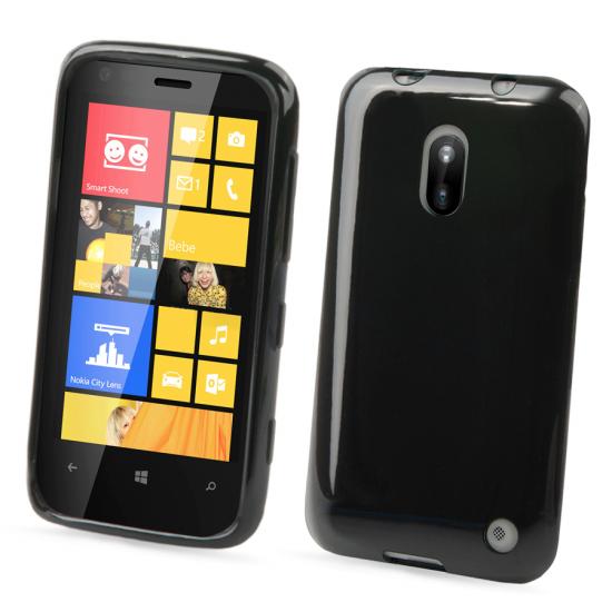 Muvit Minigel Glazy TPU Backcover voor de Nokia Lumia 620 - Zwart