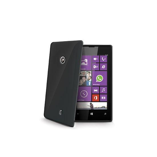 Celly Gelskin TPU Backcover voor de Nokia Lumia 520 - Zwart