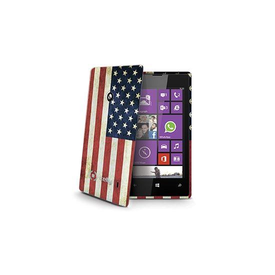 Celly Gelskin TPU Backcover voor de Nokia Lumia 520 - Vintage USA-vlag