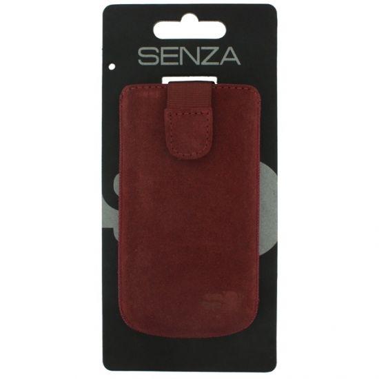 Senza Slide Leren Insteekhoes Universeel XL - Rusty Red