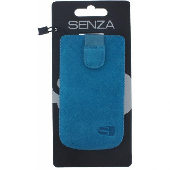 Senza Slide Leren Insteekhoes Universeel XL - Deep Blue