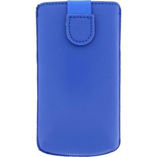 Mobilize Slide Leren Insteekhoes Universeel XL - Blauw