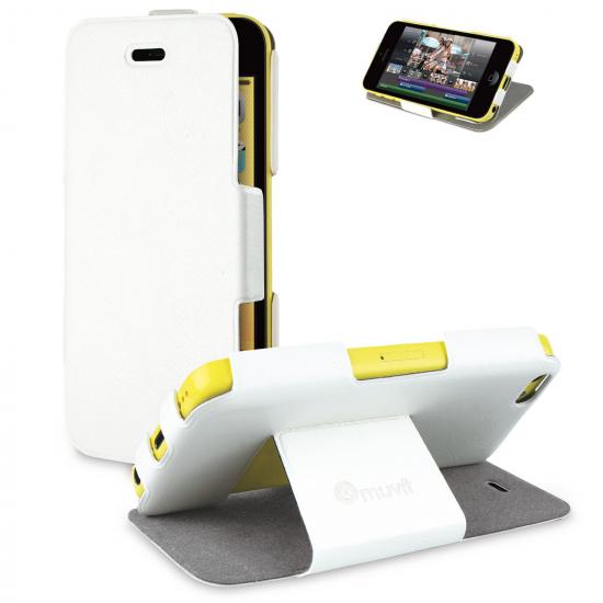Muvit iFlip Folio  Bookcase voor de iPhone 5C - Wit
