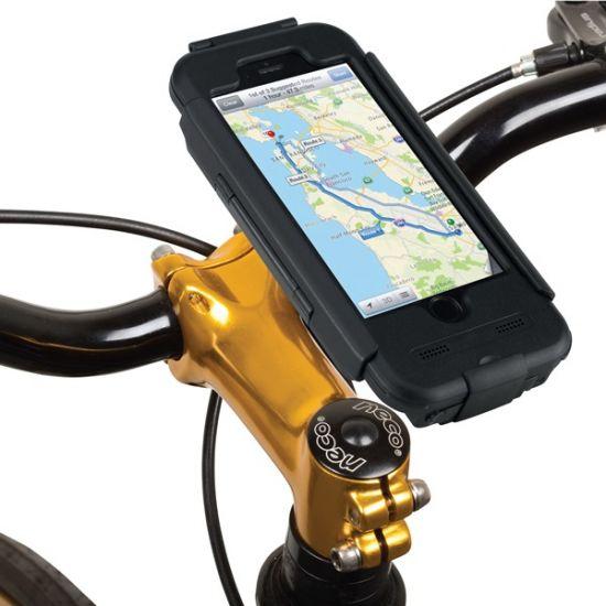 Tigra Bike Console Telefoonhouder Fiets voor de Apple iPhone 6(s) - Zwart