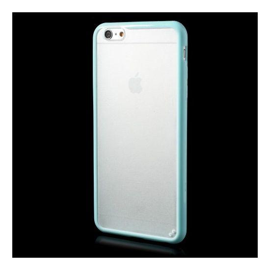 Mobigear Acrylic Hardcase voor de iPhone 6(s) Plus - Transparant / Turquoise