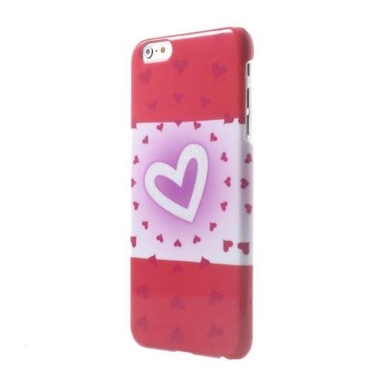 Mobigear Design Hardcase voor de iPhone 6(s) Plus - Hartjes