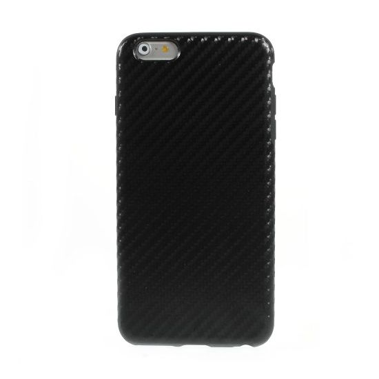 Mobigear Racing TPU Backcover voor de iPhone 6(s) Plus - Zwart