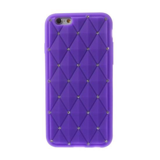 Mobigear Diamond Siliconen Backcover voor de iPhone 6(s) - Paars
