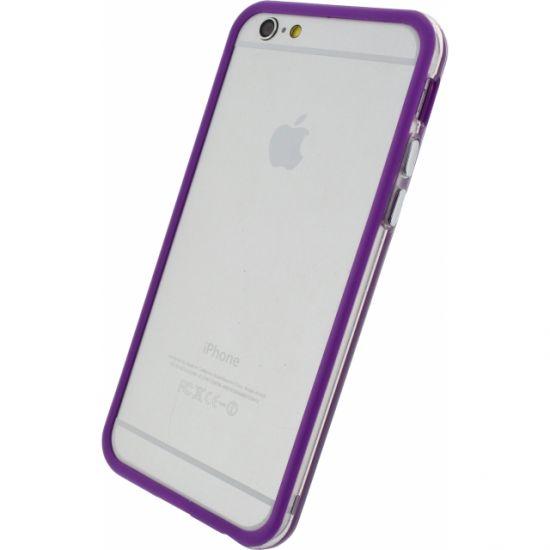 Xccess Hard Kunststof Bumper voor de iPhone 6(s) - Transparant / Paars