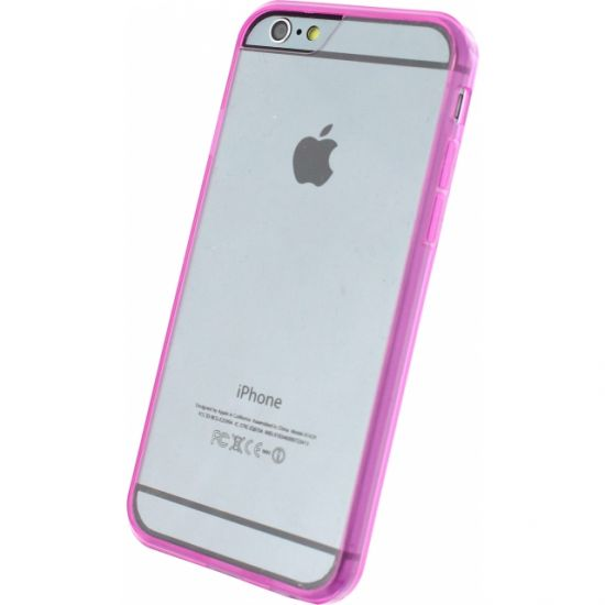 Xccess Rubber Hardcase voor de iPhone 6(s) - Transparant / Roze