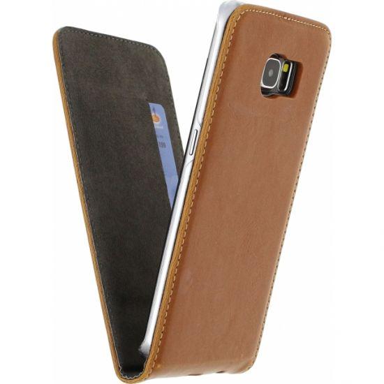 Mobilize Premium Magnet Flipcase voor de Samsung Galaxy S6 Edge - Bruin