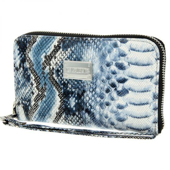 Valenta Luxury Handbag Leren Clutch Universeel - Blue Snake