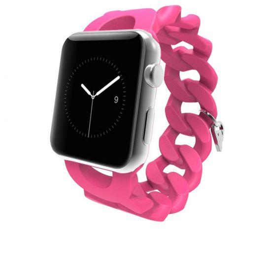 Case Mate Turnlock Strap Siliconen Bandje voor de Apple Watch 40mm / 38mm - Roze