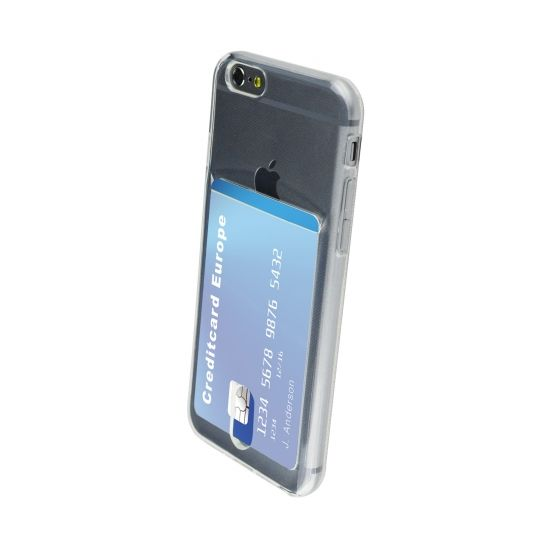 Mobiparts Smart Creditcard TPU Backcover voor de iPhone 6(s) - Transparant