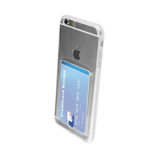 Mobiparts Smart Creditcard TPU Backcover voor de iPhone 6(s) Plus - Transparant