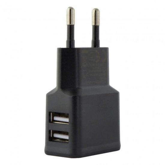Grab n Go Dual USB Oplader 12W 2.4A - Zwart
