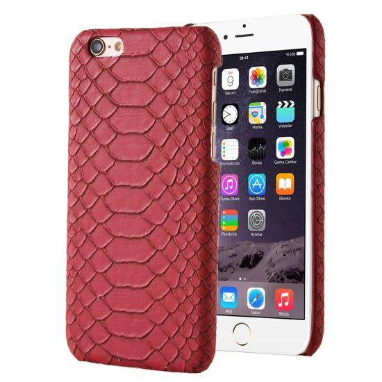 Mobigear Snake Hardcase voor de iPhone SE (2016) / 5S / 5 - Rood