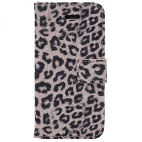 Mobigear Leopard  Bookcase voor de iPhone 6(s) - Bruin