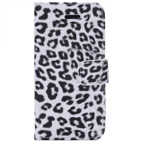Mobigear Leopard  Bookcase voor de iPhone 6(s) - Wit