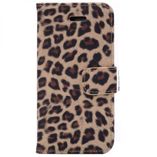 Mobigear Leopard Bookcase voor de iPhone 6(s) - Geel