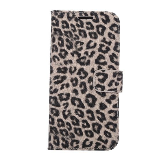 Mobigear Leopard Bookcase voor de Samsung Galaxy S7 - Bruin