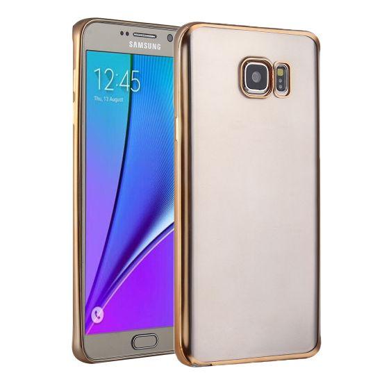 Mobigear Royal TPU Backcover voor de Samsung Galaxy S7 - Transparant / Goud