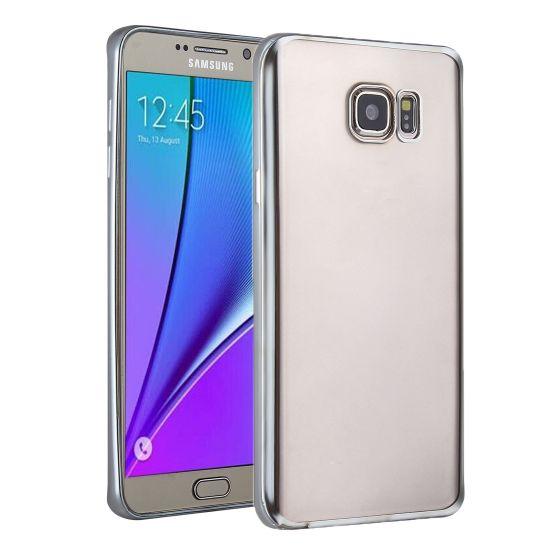 Mobigear Royal TPU Backcover voor de Samsung Galaxy S7 - Transparant / Zilver