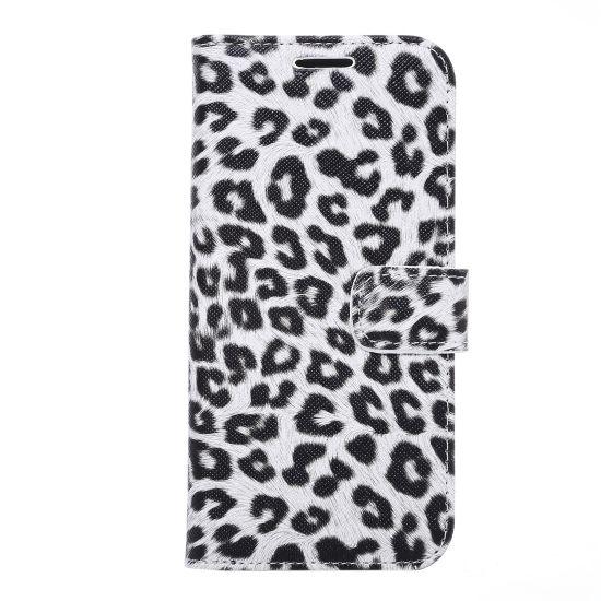 Mobigear Leopard  Bookcase voor de Samsung Galaxy S7 Edge - Wit