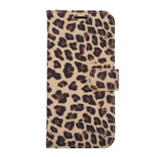 Mobigear Leopard Bookcase voor de Samsung Galaxy S7 Edge - Geel