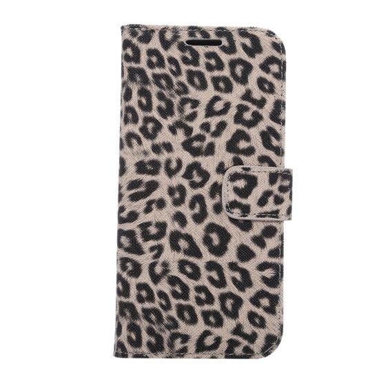 Mobigear Leopard Bookcase voor de Samsung Galaxy S7 Edge - Bruin
