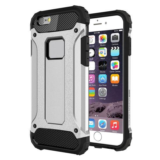 Mobigear Outdoor Hardcase voor de iPhone 6(s) - Zilver