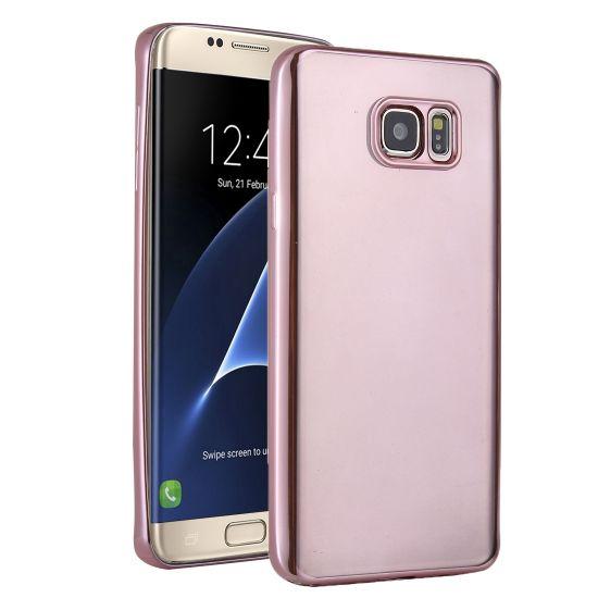 Mobigear Royal TPU Backcover voor de Samsung Galaxy S7 Edge - Transparant / Roségoud