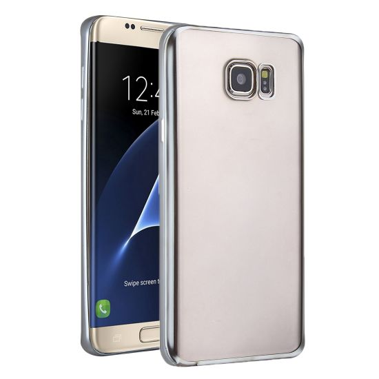 Mobigear Royal TPU Backcover voor de Samsung Galaxy S7 Edge - Transparant / Zilver