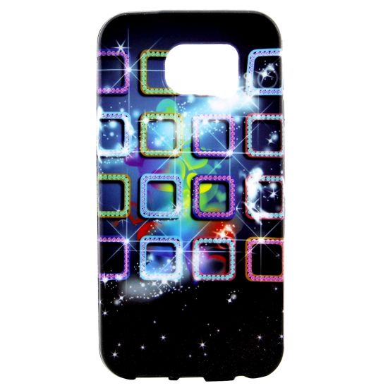 Mobigear Design TPU Backcover voor de Samsung Galaxy S7 Edge - Glimmende glitters