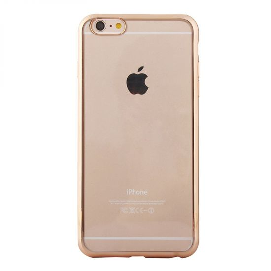 Mobigear Royal TPU Backcover voor de iPhone 6(s) - Transparant / Goud