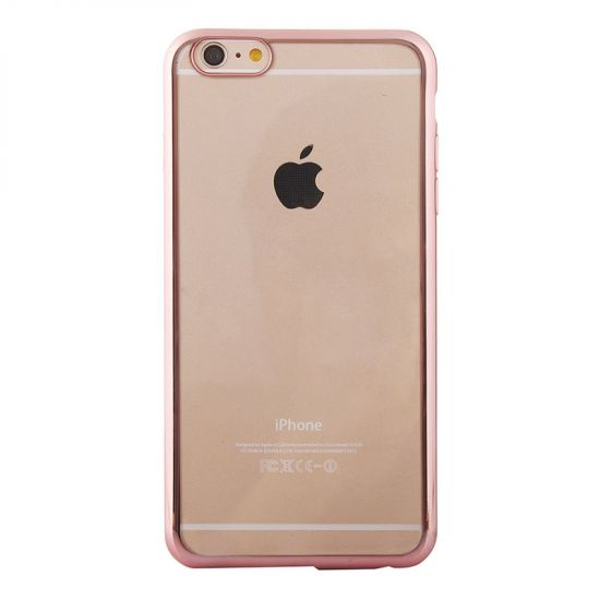 Mobigear Royal TPU Backcover voor de iPhone 6(s) - Transparant / Roze