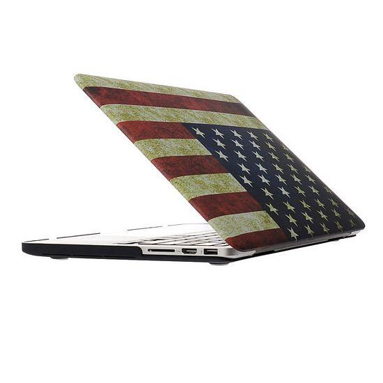 Mobigear Design Case voor de MacBook Pro 13 inch - Vintage Amerikaanse vlag
