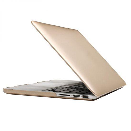 Mobigear Metallic Case voor de MacBook Pro 13 inch A1425 / A1502 - Goud