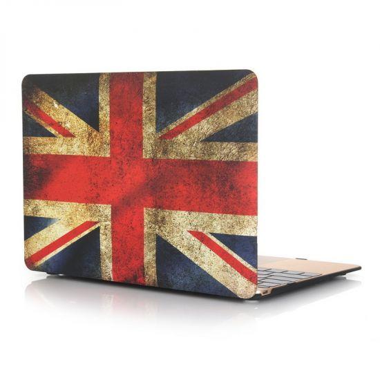 Mobigear Design Case voor de MacBook 12 inch - Vintage Britse vlag