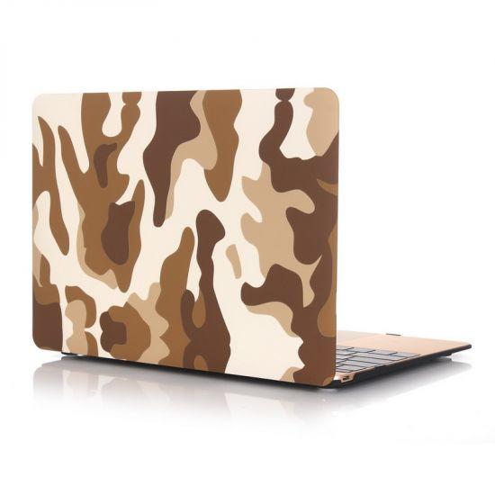 Mobigear Camouflage Case voor de MacBook 12 inch - Bruin