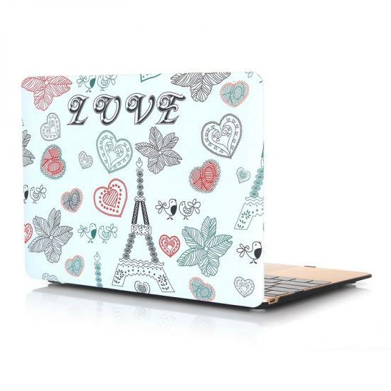 Mobigear Design Case voor de MacBook 12 inch - Eiffeltoren
