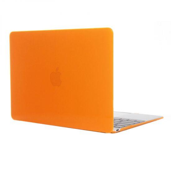 Mobigear Glossy Case voor de MacBook 12 inch - Oranje
