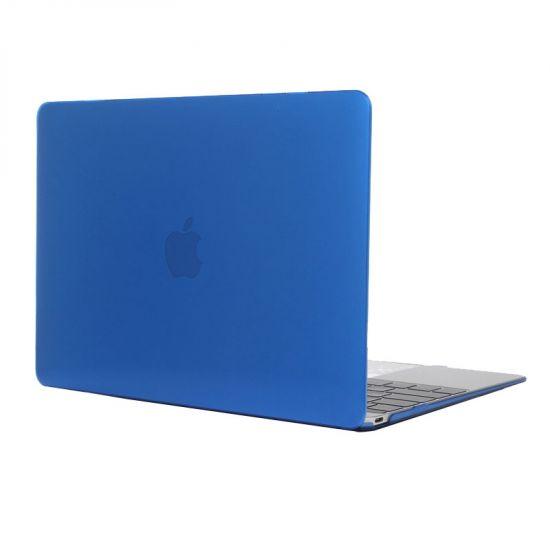 Mobigear Glossy Case voor de MacBook 12 inch - Donkerblauw