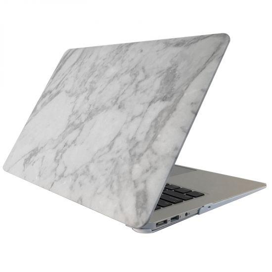 Mobigear Marmer Case voor de MacBook 12 inch - Wit / Grijs