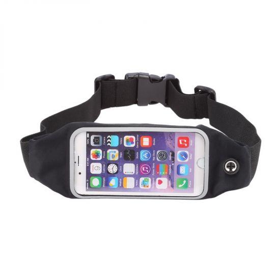 Mobigear Neopreen Sportarmband voor de iPhone 6(s) - Zwart
