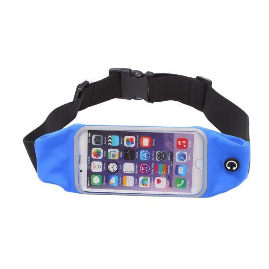Mobigear Neopreen Sportarmband voor de iPhone 6(s) - Donkerblauw