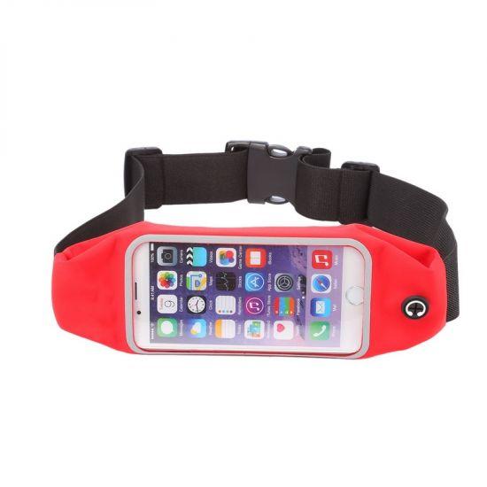 Mobigear Neopreen Sportarmband voor de iPhone 6(s) - Rood